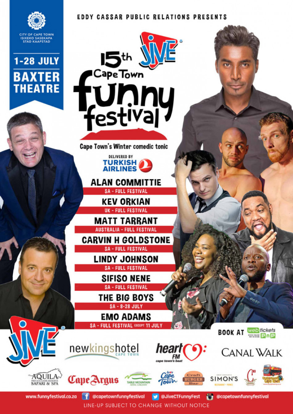 Funny Festival A2 Poster 20191 724x1024 - It's time for the Cape Town Funny Festival: The city's official winter comedic tonic